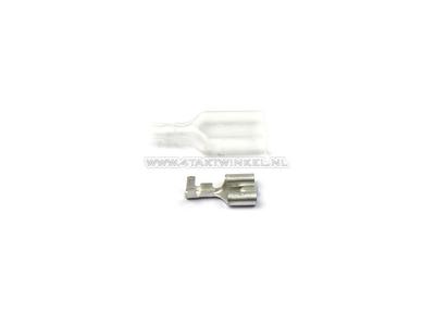 Connector Japanese spade 6.3 mm, female + sleeve