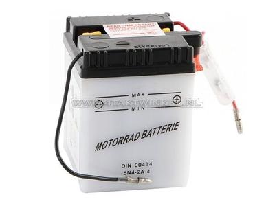 Battery 6 volt 4 ampere, C50, CB50, acid battery, aftermarket