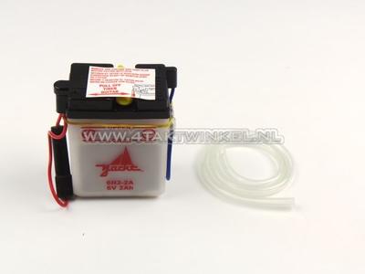 Battery 6 volt 2 ampere, SS50, acid battery, aftermarket