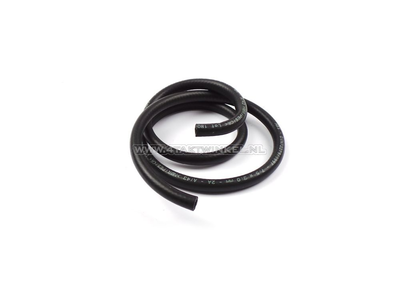 Oil hose black 7.5mm - 13.5mm, per meter