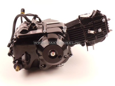 Engine, 50cc, semi-automatic, Lifan, 4-speed, black