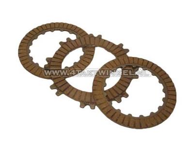 Clutch friction plate C50, C70, Dax, set 3 pcs