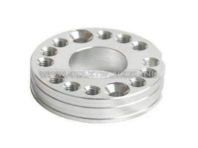 Adjuster plate for carburettor aluminum, bright