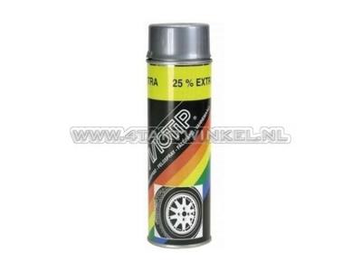 Paint Motip rim spray silver gray