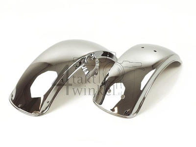 Mudguard set, Dax NT replica ab23 chrome, rolled edge