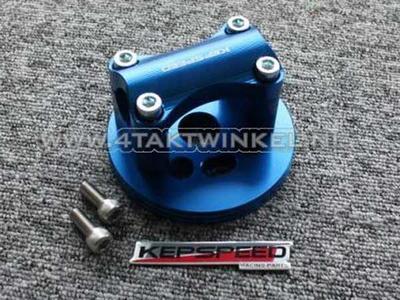 Triple clamp C50, for 22mm handlebar, blue