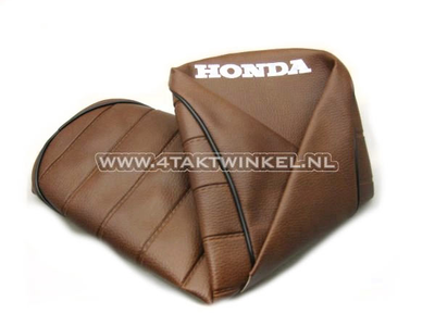 Seat cover Dax brown light, black piping