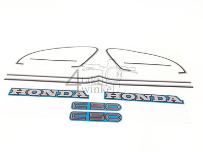 Sticker C50c, set, tank and side covers, blue