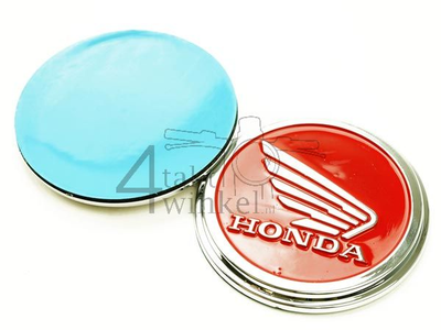 Emblem set, Honda wing, red