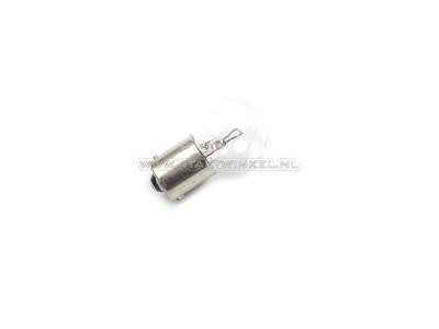 Bulb BA15-S, single, 6 volt, 18 watt medium bulb