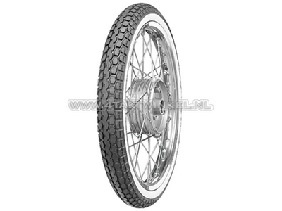 Tire 19 inch, Continental KKS10, street white wall, 2.50