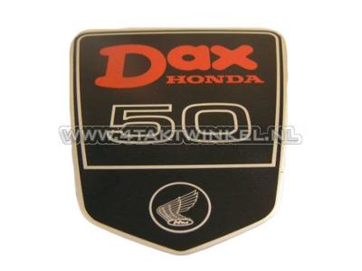 Sticker Dax emblem under seat large, DAX 50, original Honda