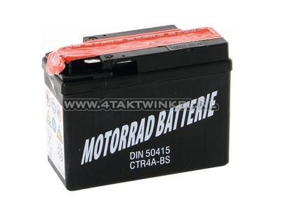 Battery 12 volt 4 ampere, CTR4A-BS Benly, Monkey
