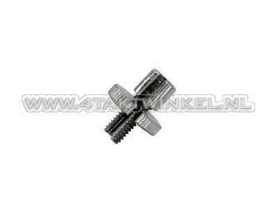 Cable adjuster, m8 thread with slot