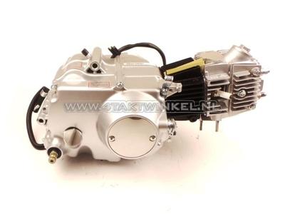 Engine, 85cc, manual clutch, Lifan, 4-speed, silver