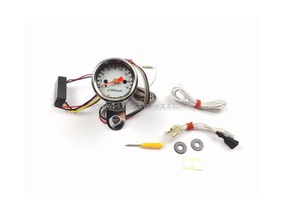 Tachometer Kitaco 48mm chrome, electronic