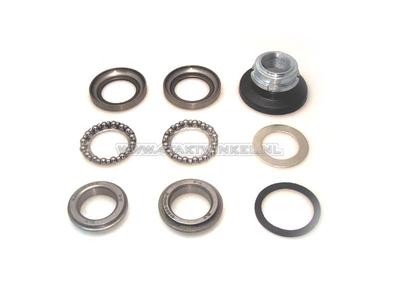 Steering bearing set, SS50, CD50, Dax, CB50, ball rings & adjusting nut