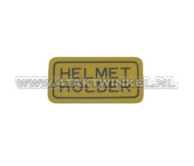Sticker helmet holder, original Honda