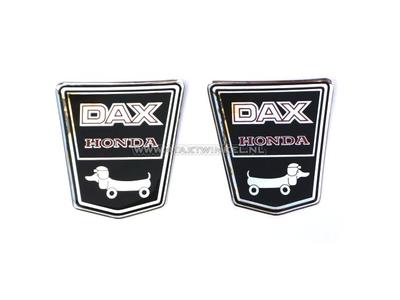 Sticker Dax emblem under seat, funny dog ??set left & right gel