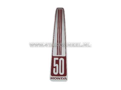 Sticker C50 OT front, oblong, aftermarket