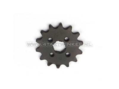 Front sprocket, 420 chain, 17mm shaft, 14, SS50, C50, Dax