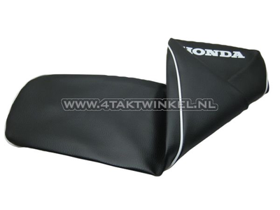 Seat cover CD50 black, white piping