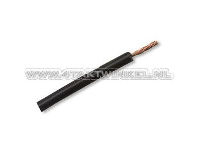 Wire per meter 0.75mm2, black