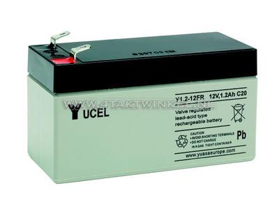 Battery 12 volt 1.2 ampere gel Yucel