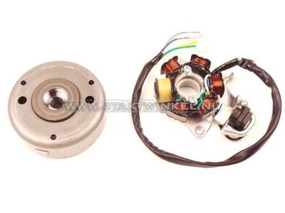 CDI ignition set CB50, aftermarket Ignition coils, flywheel original Honda