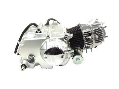 Engine, 50cc, manual clutch, Zhenhua, 4-speed, with starter, Euro 4, 3x yellow wire