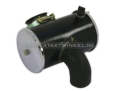 Air filter housing, Dax, complete, chrome, aftermarket