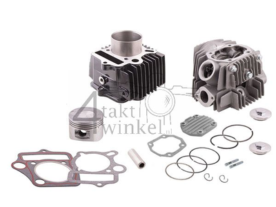 Cylinder kit, with piston & gasket & cylinder head 110cc, 52mm, NT