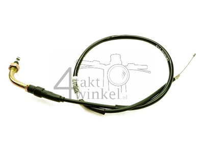 Throttle cable, 70cm with bend, aftermarket