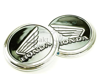 Emblem set, Honda Wing, black