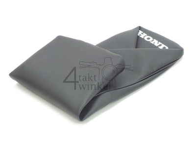 Seat cover C320 A and S, Honda print, black, aftermarket