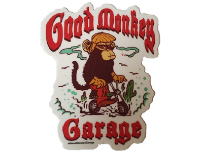 Good Monkey Garage Sticker # 1