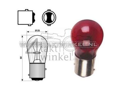 Rear bulb duplo BAY15D, 12 volt, 18-5 watt, red