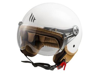 Helmet MT, Le Mans Soul Retro, White, Sizes S to XXL