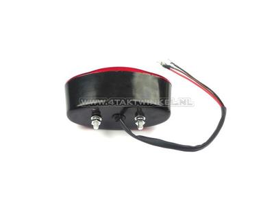 Taillight Dax, PBR, replica, standard cateye, black