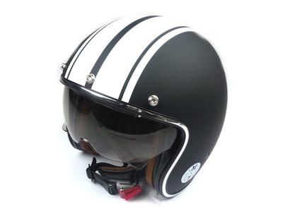 Helmet MT, Le Mans Speed, Matt black / white, Sizes S to XL