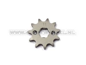 Front sprocket, 420 chain, 17mm shaft, 11, SS50, C50, Dax, m6 holes