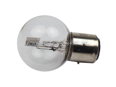 Bulb headlight BA21D, dual, 6 volt, 25-25 watt, Dax 3-pin