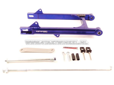 Swingarm C50, SS50, CD50 aluminum, Kepspeed, + 6cm, blue