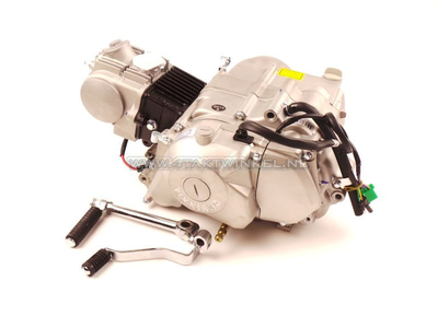 Engine, 70cc, semi-automatic, YX, 4-speed, with starter