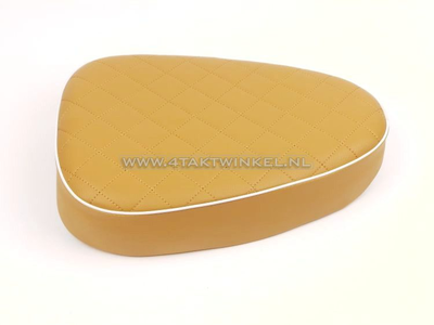 Seat, C50 NT, C50 replica, Streetcub, flat, brown, white piping