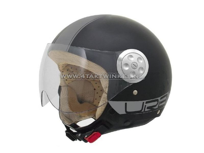 Helmet MT, Urban Retro, Matt Black, Sizes XS to XXL