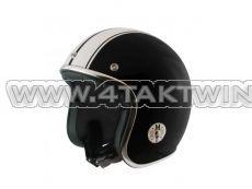 Helmet MT, Le Mans, Black / white, Sizes S to XL
