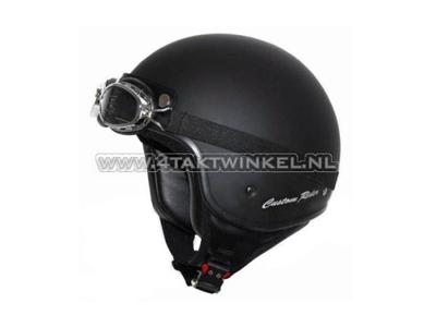 Helmet MT, Custom Rider, matt black, Sizes S to XL