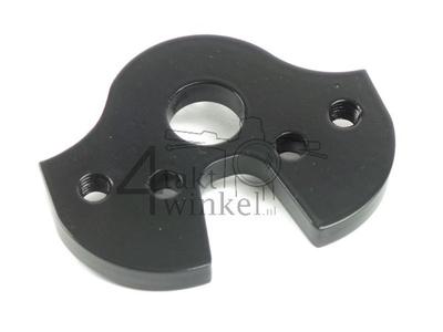 Triple clamp C50, for risers / handlebar clamps, black