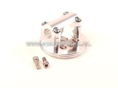 Triple clamp C50, for 22mm handlebar, aluminum